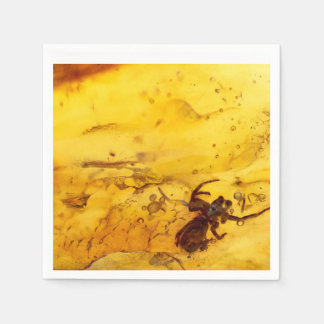 Spider inside baltic amber stone napkin