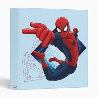 Spider-Man Action Character Badge 3 Ring Binder