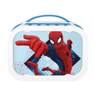 Spider-Man Action Character Badge Lunch Box