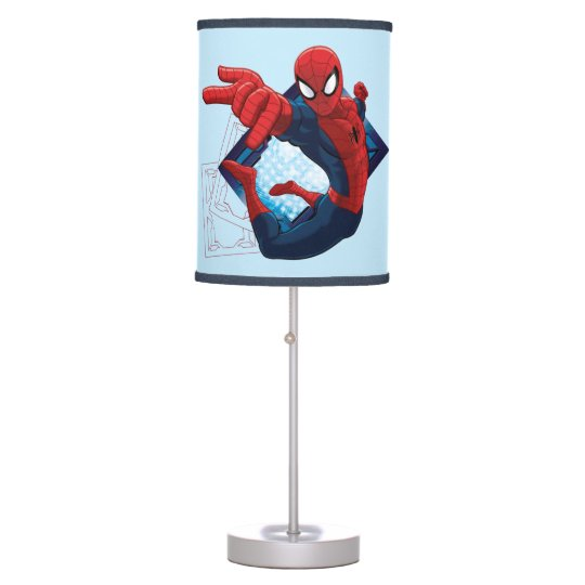 Spider-Man Action Character Badge Table Lamps