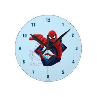 Spider-Man Action Character Badge Wallclock