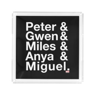 Spider-Man Alternates Ampersand Graphic Acrylic Tray