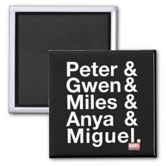 Spider-Man Alternates Ampersand Graphic Magnet