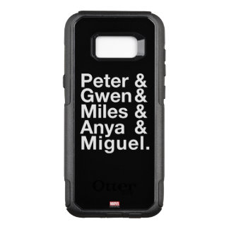 Spider-Man Alternates Ampersand Graphic OtterBox Commuter Samsung Galaxy S8+ Case