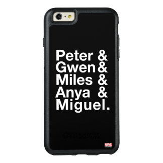 Spider-Man Alternates Ampersand Graphic OtterBox iPhone 6/6s Plus Case