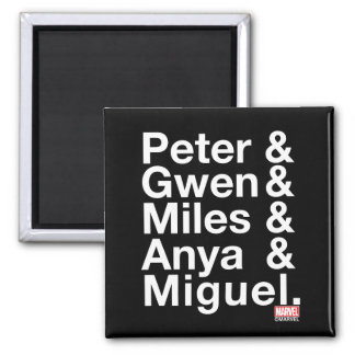 Spider-Man Alternates Ampersand Graphic Square Magnet