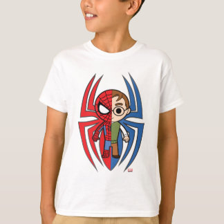 Spider-Man and Peter Parker Dual Identity T-Shirt
