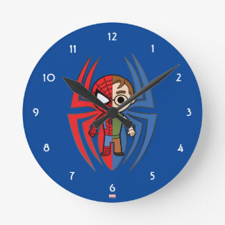 Spider-Man and Peter Parker Dual Identity Wall Clock