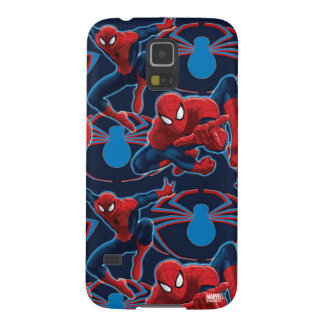 Spider-Man and Spider Logo Pattern Galaxy S5 Cover