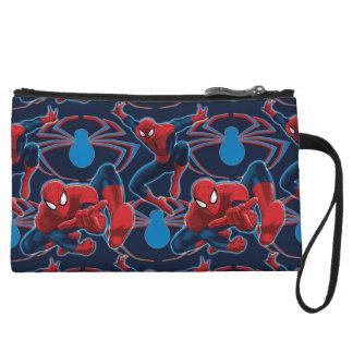 Spider-Man and Spider Logo Pattern Wristlet