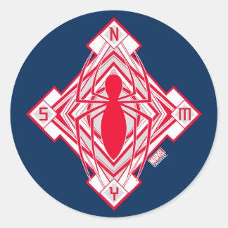 Spider-Man Art Deco NY Emblem Classic Round Sticker