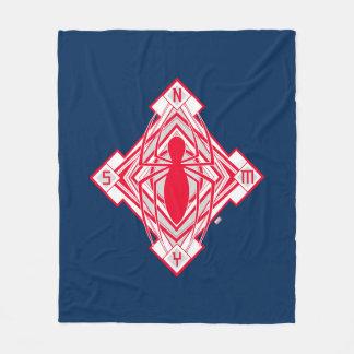 Spider-Man Art Deco NY Emblem Fleece Blanket