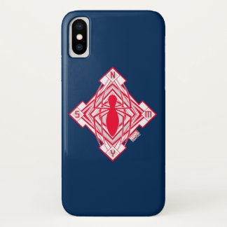 Spider-Man Art Deco NY Emblem iPhone X Case