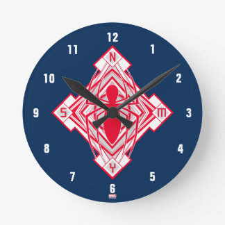 Spider-Man Art Deco NY Emblem Round Clock