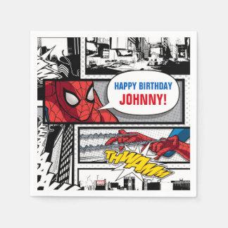 Spider-Man Birthday Paper Napkin