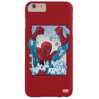 Spider-Man Breaking Glass Barely There iPhone 6 Plus Case