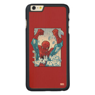 Spider-Man Breaking Glass Carved® Maple iPhone 6 Plus Case