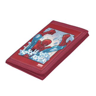 Spider-Man Breaking Glass Tri-fold Wallet