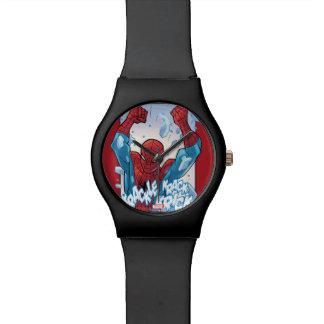 Spider-Man Breaking Glass Wrist Watches