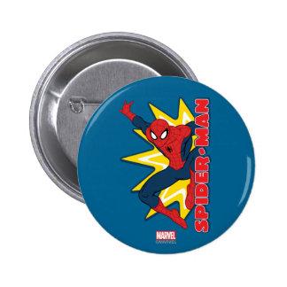 Spider-Man Callout Graphic 2 Inch Round Button