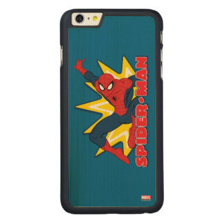 Spider-Man Callout Graphic Carved® Maple iPhone 6 Plus Case