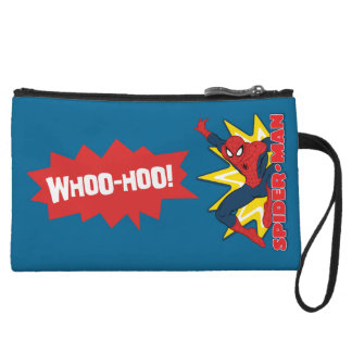 Spider-Man Callout Graphic Wristlet Clutches