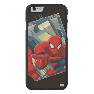 Spider-Man City Character Graphic Carved® Maple iPhone 6 Slim Case