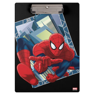 Spider-Man City Character Graphic Clipboard