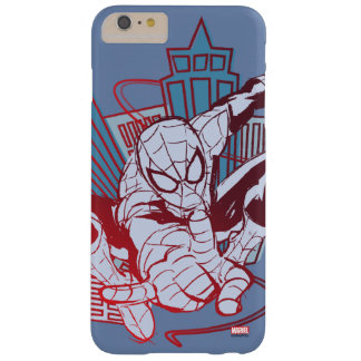 Spider-Man & City Sketch Barely There iPhone 6 Plus Case