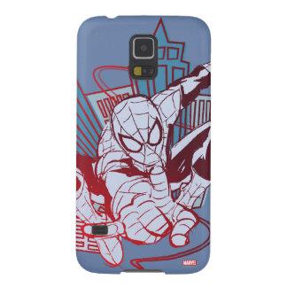Spider-Man & City Sketch Galaxy S5 Case