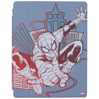 Spider-Man & City Sketch iPad Cover