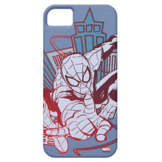 Spider-Man & City Sketch iPhone 5 Case