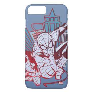Spider-Man & City Sketch iPhone 7 Plus Case