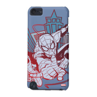 Spider-Man & City Sketch iPod Touch (5th Generation) Covers