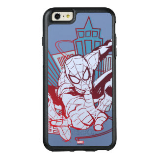 Spider-Man & City Sketch OtterBox iPhone 6/6s Plus Case