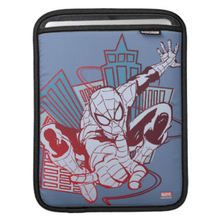 Spider-Man & City Sketch Sleeve For iPads