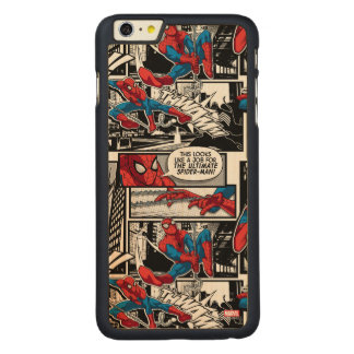 Spider-Man Comic Panel Pattern Carved® Maple iPhone 6 Plus Case