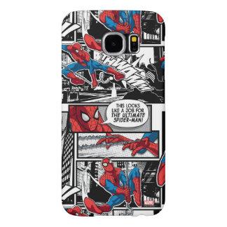 Spider-Man Comic Panel Pattern Samsung Galaxy S6 Cases