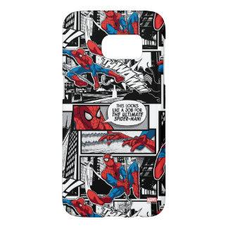 Spider-Man Comic Panel Pattern Samsung Galaxy S7 Case