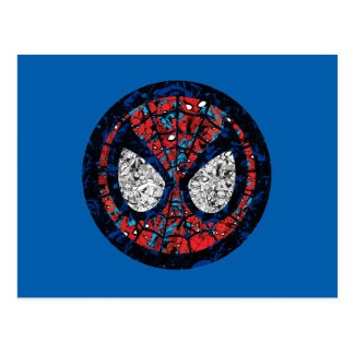 Spider-Man Comic Patterned Icon Postcard