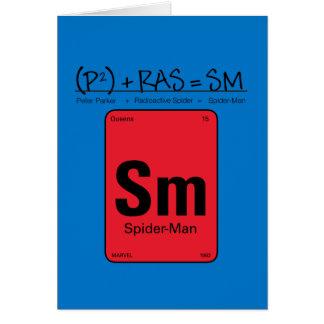 Spider-Man Element Scientific Formula Card