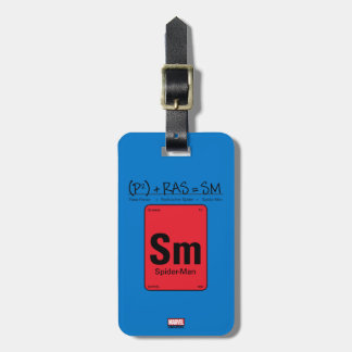 Spider-Man Element Scientific Formula Luggage Tag