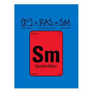 Spider-Man Element Scientific Formula Postcard
