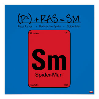 Spider-Man Element Scientific Formula Poster