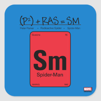 Spider-Man Element Scientific Formula Square Sticker