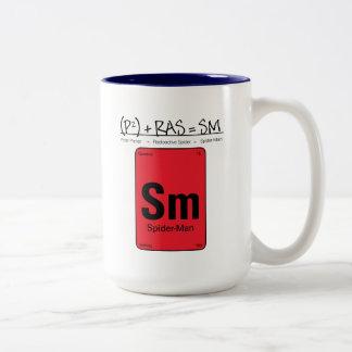 Spider-Man Element Scientific Formula Two-Tone Coffee Mug