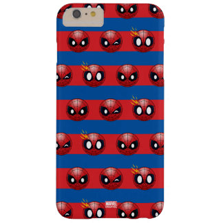 Spider-Man Emoji Stripe Pattern Barely There iPhone 6 Plus Case