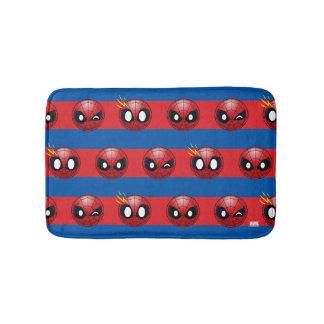 Spider-Man Emoji Stripe Pattern Bath Mat