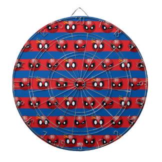Spider-Man Emoji Stripe Pattern Dart Boards