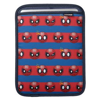 Spider-Man Emoji Stripe Pattern iPad Sleeve